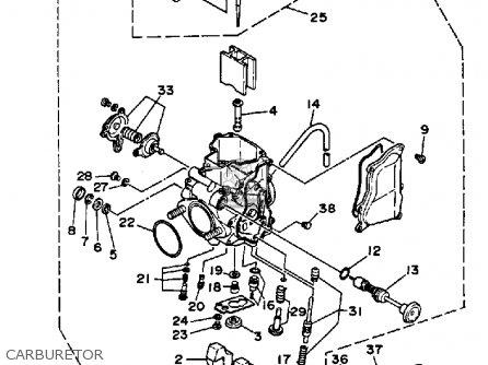 Yamaha Yfm350xt 1987 Warrior Carburetor