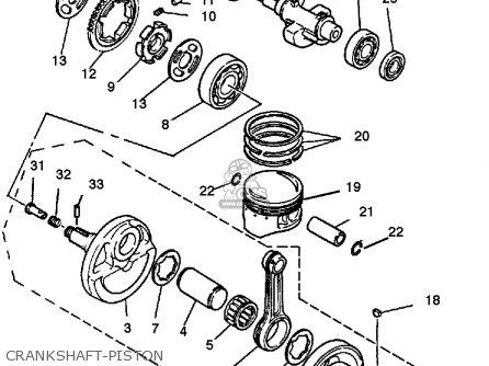Yamaha Yfm350xt 1987 Warrior Crankshaft-piston