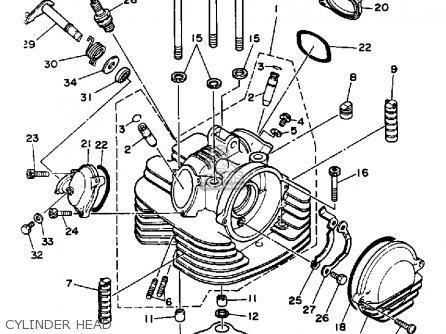 Yamaha Yfm350xt 1987 Warrior Cylinder Head