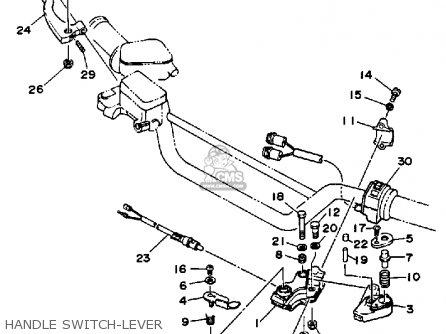 Yamaha Yfm350xt 1987 Warrior Handle Switch-lever