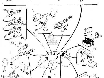 Yamaha Yfm400fwe Kodiak 1993 parts list partsmanual partsfiche