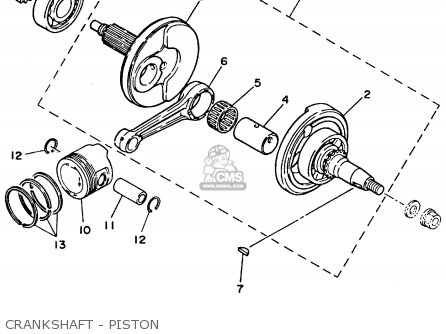 Yamaha Yfm80f 1994 Crankshaft - Piston