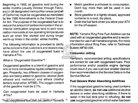Yamaha Yfm80f 1994   Technical Bulletin Pg   1
