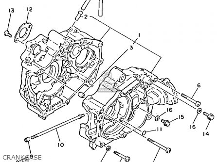 Yamaha Yfm80n 1985 Moto-4 Crankcase