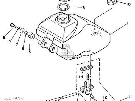 Yamaha Yfm80n 1985 Moto-4 Fuel Tank