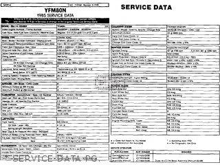 Yamaha Yfm80n 1985 Moto-4   Service Data Pg   1