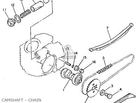 Yamaha Yfm80n Moto-4 1985 Camshaft - Chain