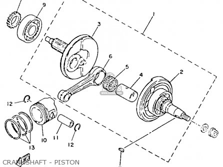 Yamaha Yfm80n Moto-4 1985 Crankshaft - Piston