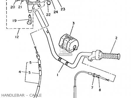 Yamaha Yfm80n Moto-4 1985 Handlebar - Cable