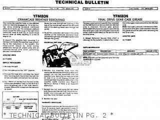 Yamaha Yfm80n Moto-4 1985   Technical Bulletin Pg   2