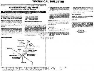 Yamaha Yfm80n Moto-4 1985   Technical Bulletin Pg   3
