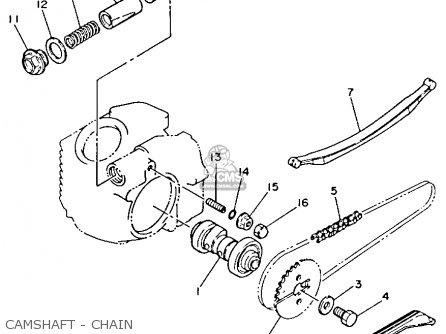 Yamaha Yfm80s Moto-4 1986 Camshaft - Chain