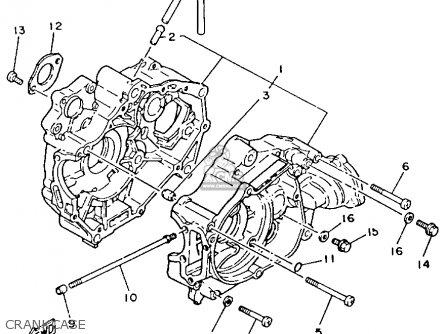 Yamaha Yfm80s Moto-4 1986 Crankcase