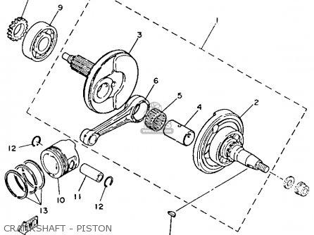 Yamaha Yfm80s Moto-4 1986 Crankshaft - Piston