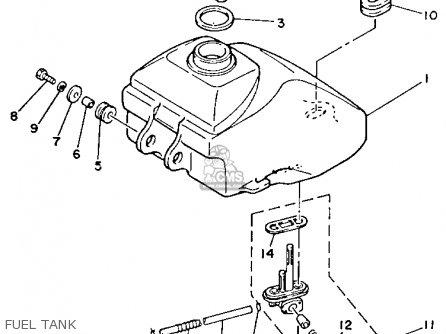 Yamaha Yfm80s Moto-4 1986 Fuel Tank