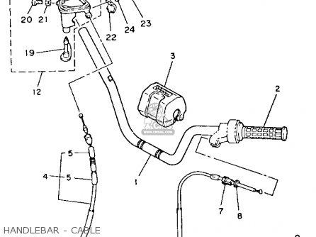 Yamaha Yfm80s Moto-4 1986 Handlebar - Cable