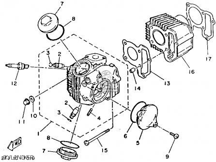 Yamaha Yfm80t Moto 4 1987 Parts Lists And Schematics