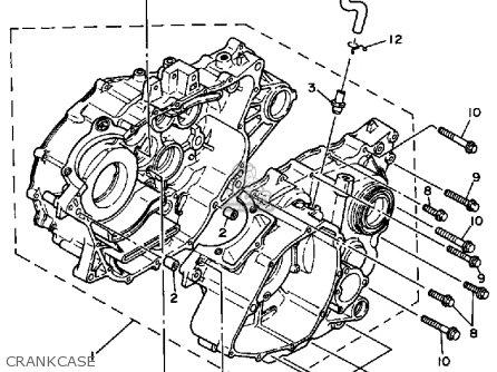Yamaha Yfp350u 1988 Terrapro Crankcase