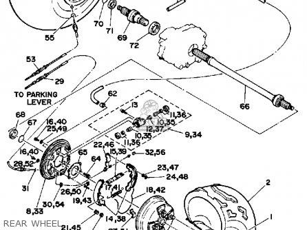 Yamaha Yfp350u 1988 Terrapro Rear Wheel