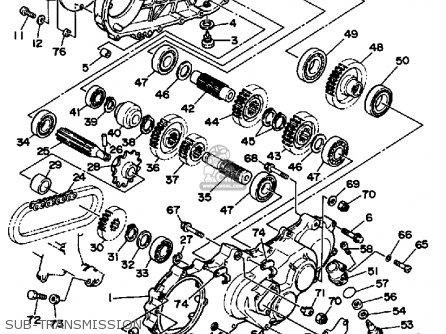 Yamaha Yfp350u 1988 Terrapro Sub-transmission