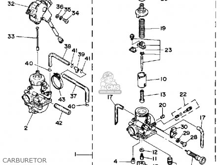 yamaha banshee carburetor diagram
