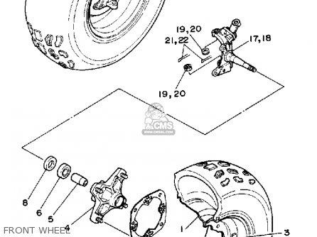 Yamaha Yfz350a Banshee 1990 Parts Lists And Schematics