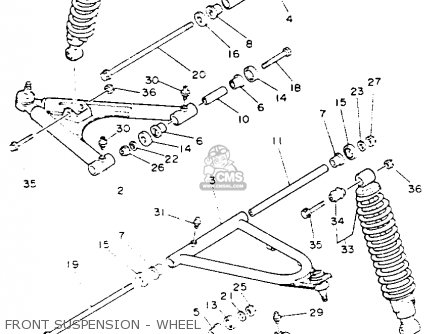 Yamaha Yfz350e Banshee Maine New Hampshire 1993 Front Suspension - Wheel