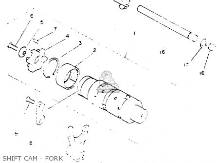 Yamaha Yfz350e Banshee Maine New Hampshire 1993 Shift Cam - Fork