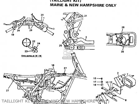 Yamaha Yfz350e Banshee Maine New Hampshire 1993 Taillight Kit maine And New Hampshire Only
