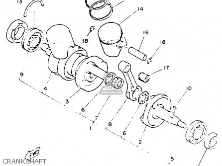 Yamaha Yfz350e Banshee Maine  New Hampshire 1993 Crankshaft
