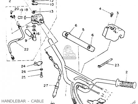 Yamaha Yfz350e Banshee Maine  New Hampshire 1993 Handlebar - Cable