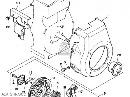 Yamaha Yg300s 7mb1 Generator Air Shroud - Starter
