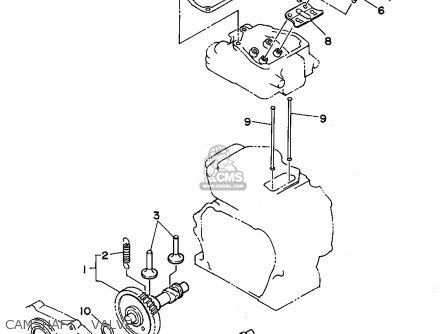 Yamaha Yg300s 7mb1 Generator Camshaft - Valve