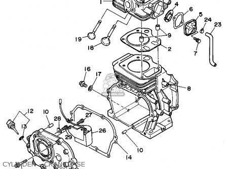 Yamaha Yg300s 7mb1 Generator Cylinder - Crankcase