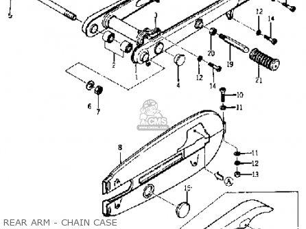 Yamaha Yj1 1964 1965 Usa Rear Arm - Chain Case