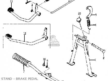 Yamaha Yj1 1964 1965 Stand - Brake Pedal