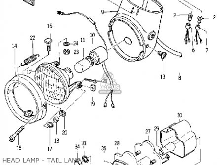 yamaha yl1 twinjet 1966 1967 usa parts list partsmanual