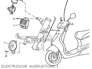 Yamaha Ym50 1995 4rc1 Germany 254rc-332g2 Elektrische Ausrustung 1