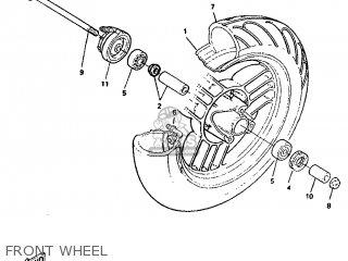 Yamaha Ym50 1995 4rc1 Germany 254rc-332g2 Front Wheel