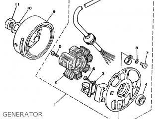 Yamaha Ym50 1995 4rc1 Germany 254rc-332g2 Generator