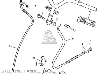 Yamaha Ym50 1995 4rc1 Germany 254rc-332g2 Steering Handle  Cable