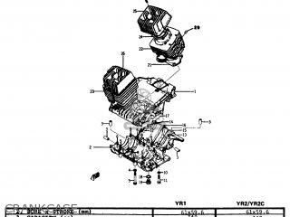 Yamaha Yr1 Dual Purpose 1967 1968 Usa Crankcase