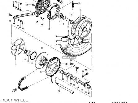 Yamaha Yr1 Dual Purpose 1967 1968 Usa Rear Wheel