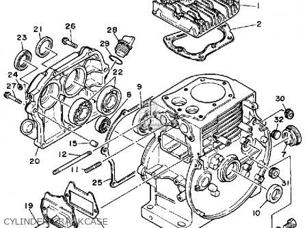 Yamaha Ys624tm Snow Blower 1988 Cylinder-crankcase