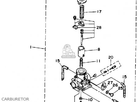 Yamaha Ysp200w Blaster 1989 Carburetor