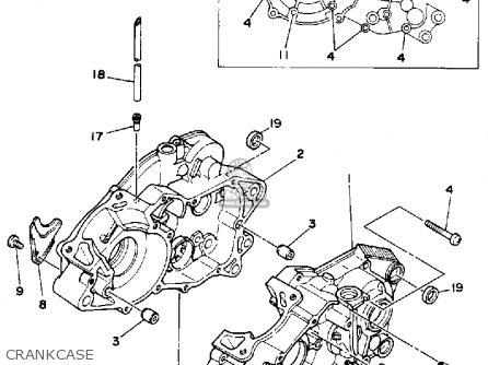 Yamaha Ysp200w Blaster 1989 Crankcase