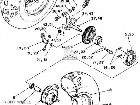 Yamaha Ysp200w Blaster 1989 Front Wheel