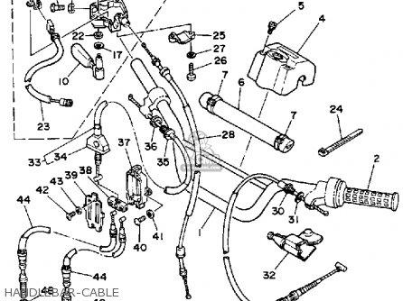 Yamaha Ysp200w Blaster 1989 Handlebar-cable