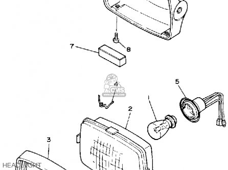 Yamaha Ysp200w Blaster 1989 Headlight