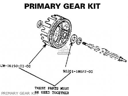 Yamaha Ysp200w Blaster 1989 Primary Gear Kit